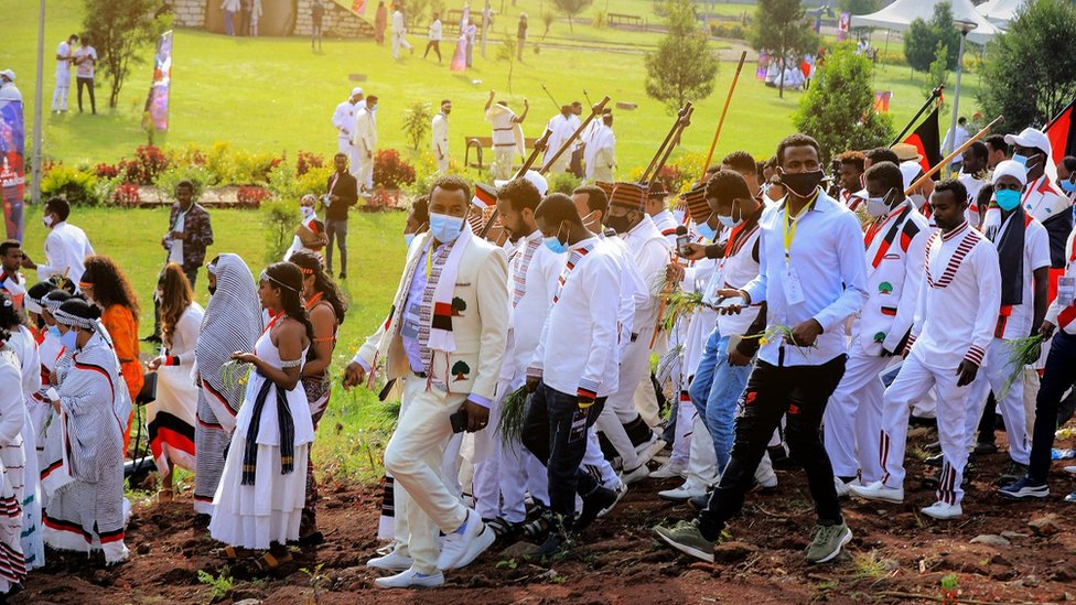 People at Irreecha festival