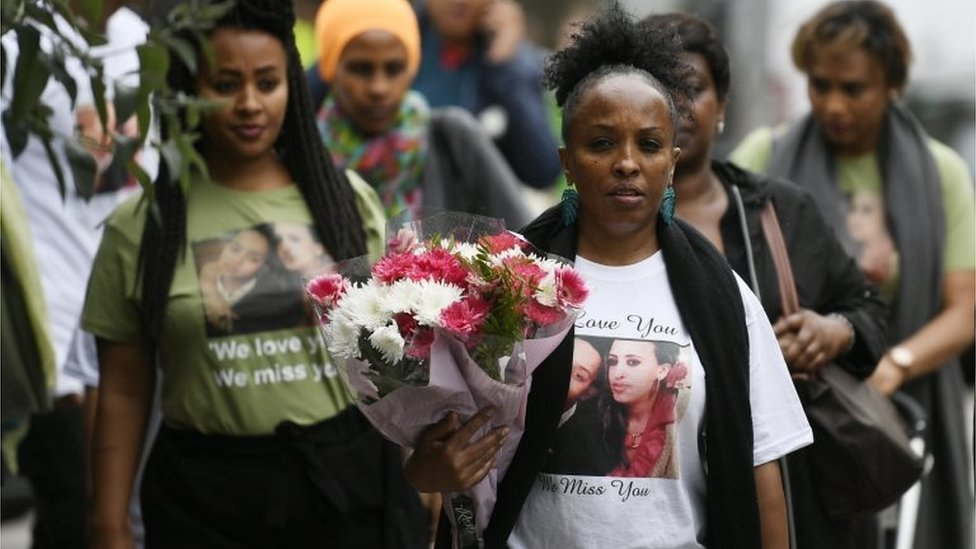 Friends and relatives of Grenfell Tower fire victims