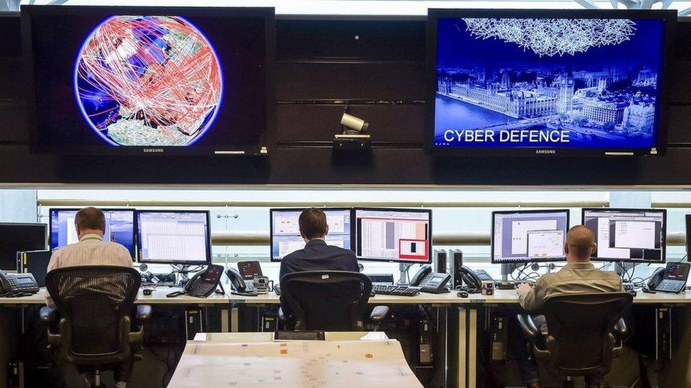 位於英格蘭切爾特納姆(Cheltenham)的英國政府通訊總部(GCHQ)24小時行動室(資料圖片)