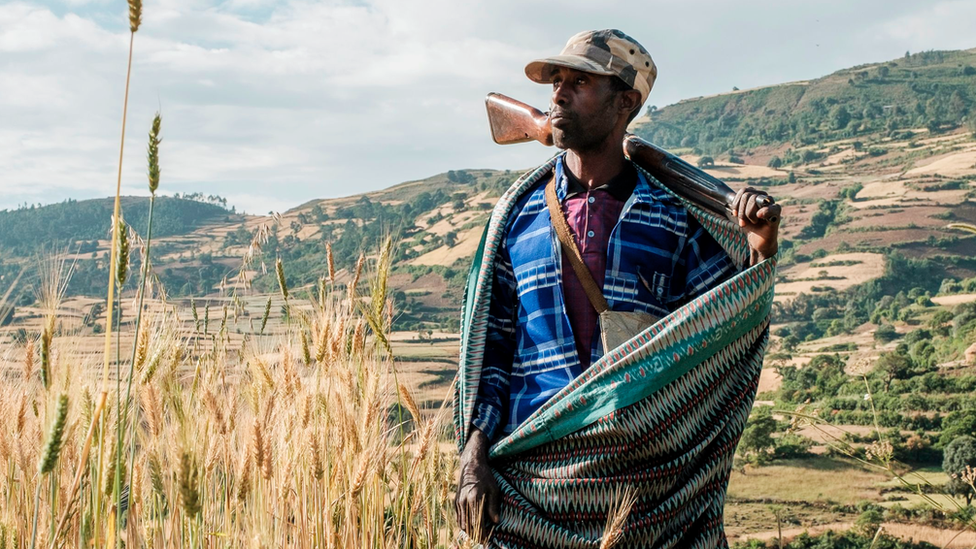 A farmer and militia fighter in north-west of Gondar, Ethiopia, on 8 November 2020