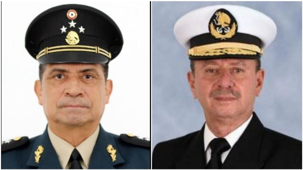 El general Luis Sandoval y el almirante José Rafael Ojeda
