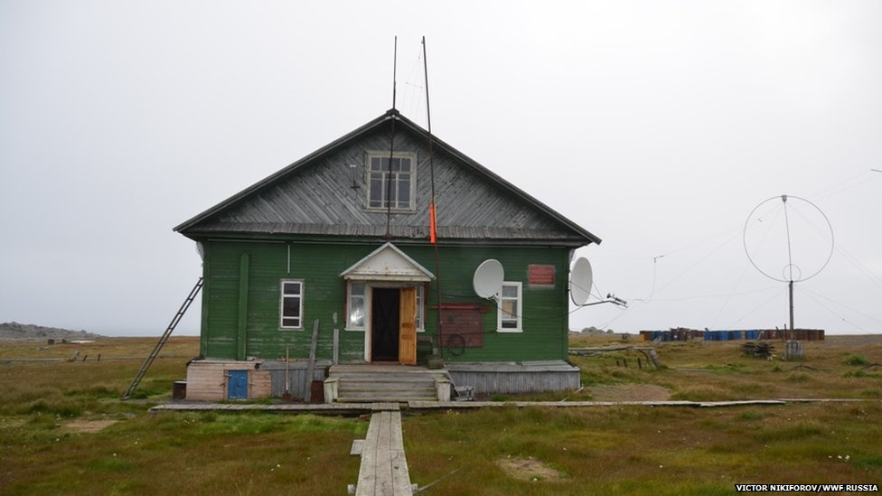 A remote weather station in northern Russia