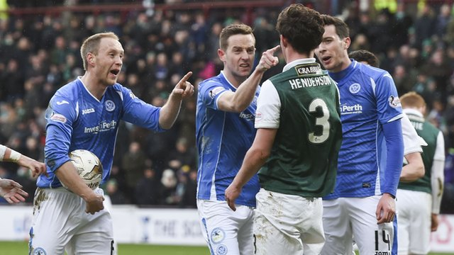 Liam Henderson gets hit with tea