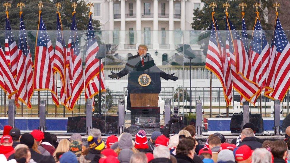 Mitin de Trump el 6 de enero de 2020