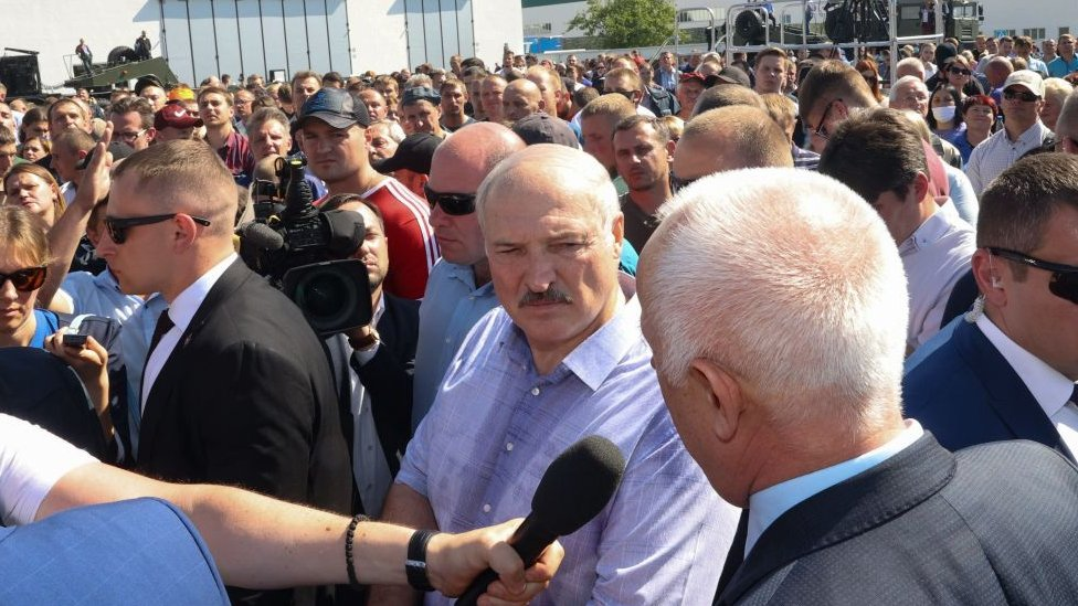 Lukashenko este lunes 17 de agosto.