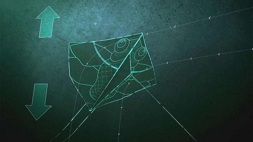 Gráfico de las fuerzas sobre la cometa