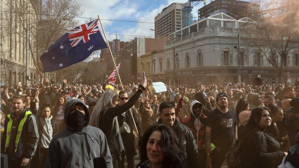 Protesta en Melbourne