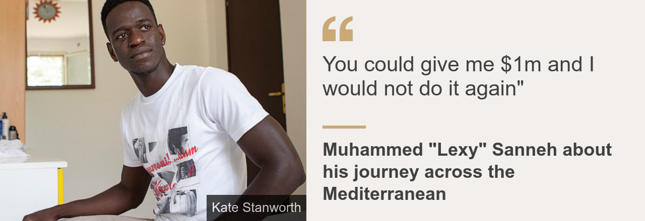 "Quote card. Muhammed Sanneh: ""You could give me one million dollars and I would not do it again"""