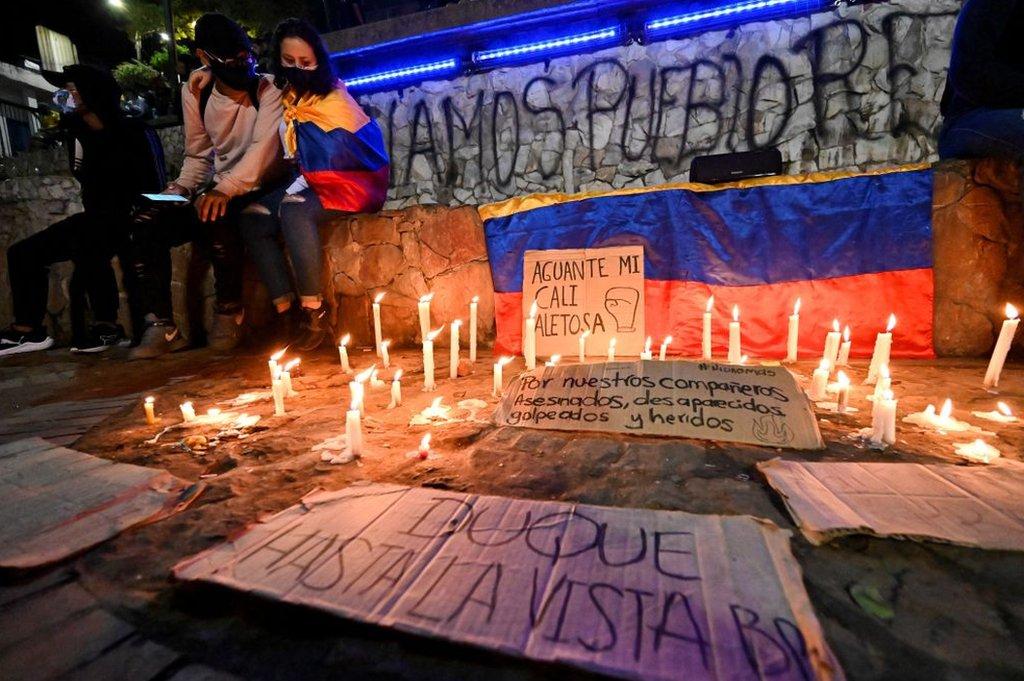 Una vigilia en Colombia