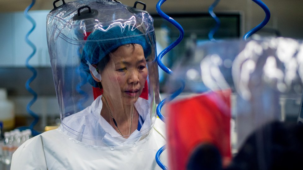 Chinese virologist Shi Zhengli is seen inside the P4 laboratory in Wuhan