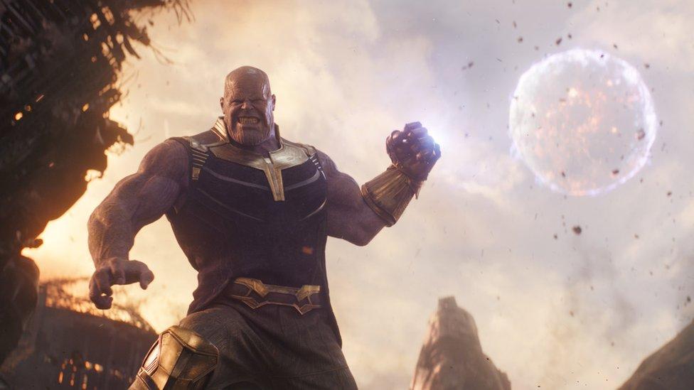 El villano Thanos de la película de Avengers