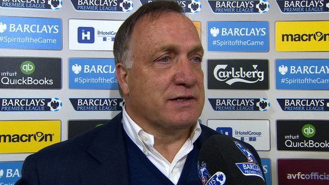 Advocaat was happy to leave Villa Park with a point