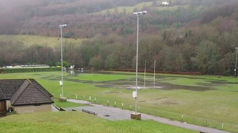Abercarn rugby games hit by pitch sewage floods