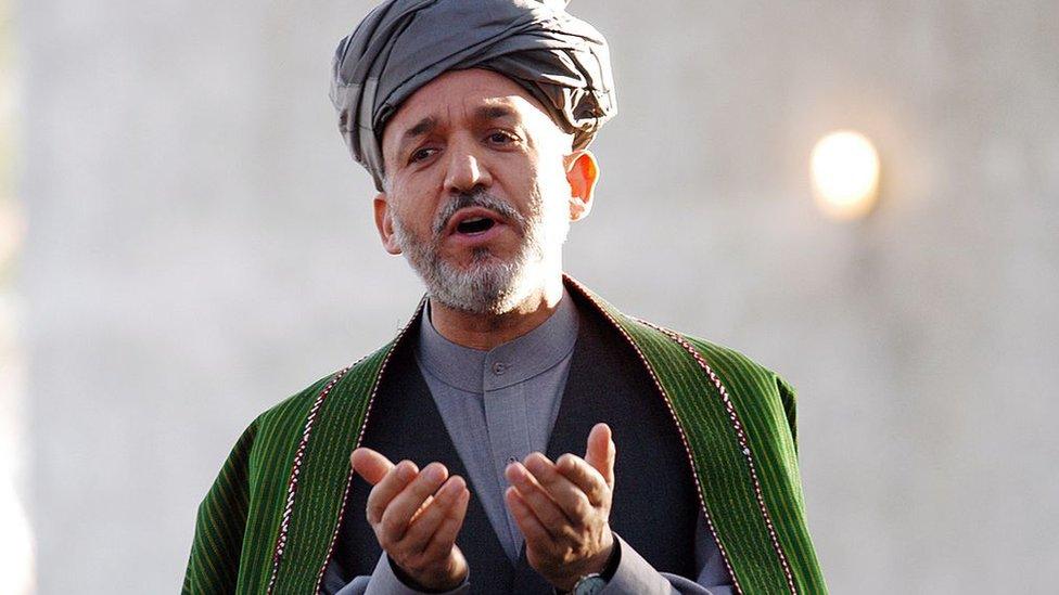 Hamid Karzai led anti-Taliban groups around Kandahar before becoming president