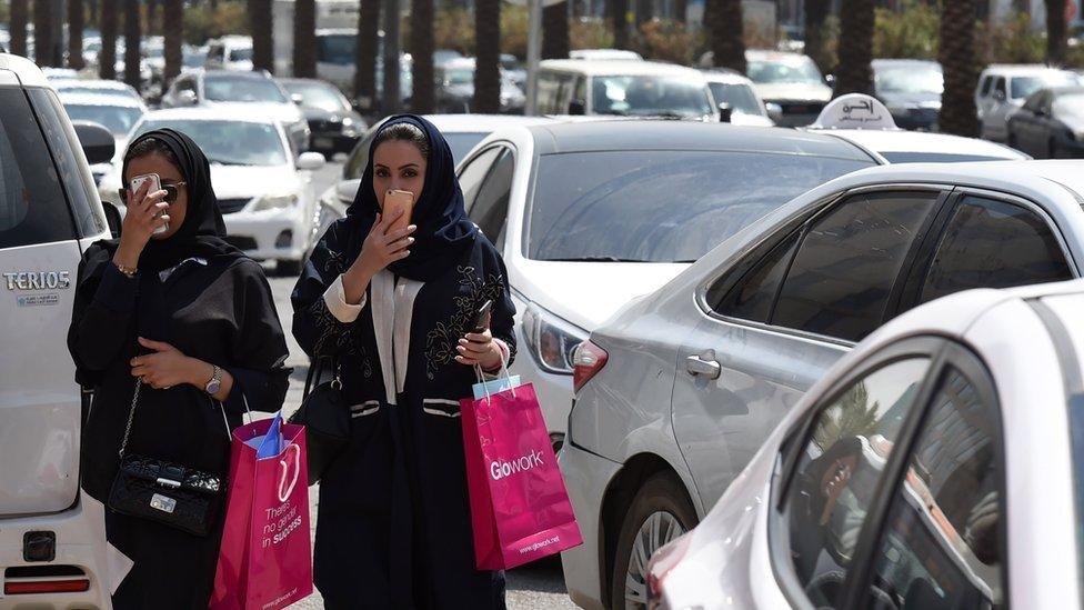 Riyad'da Suudi kadınlar
