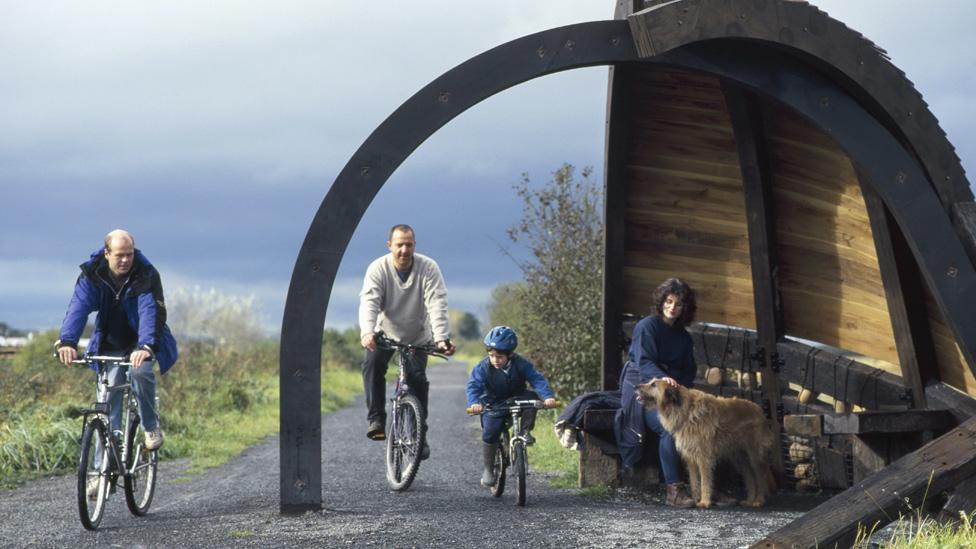 Bike path near Bideford, Devon