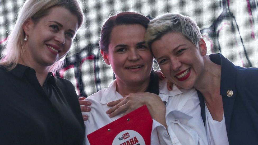 Svetlana, Veronika y Maria.