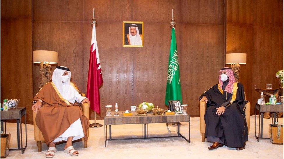 أمير قطر وولي عهد السعودية