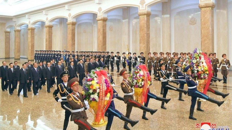 Celebraciones por el aniversario del nacimiento de Kim Il Sung.
