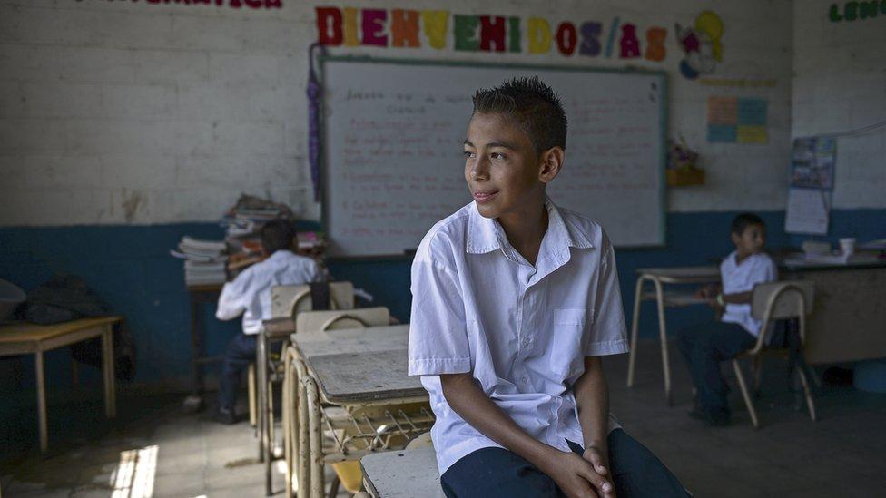 Una escuela de El Salvador.