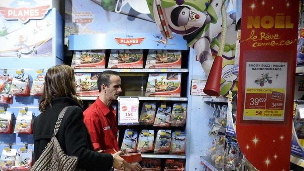 Toy shop in Paris (file picture)
