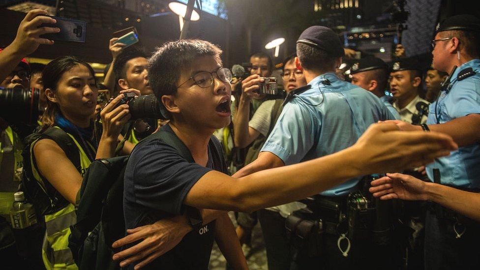 Joshua Wong, líder estudiantil
