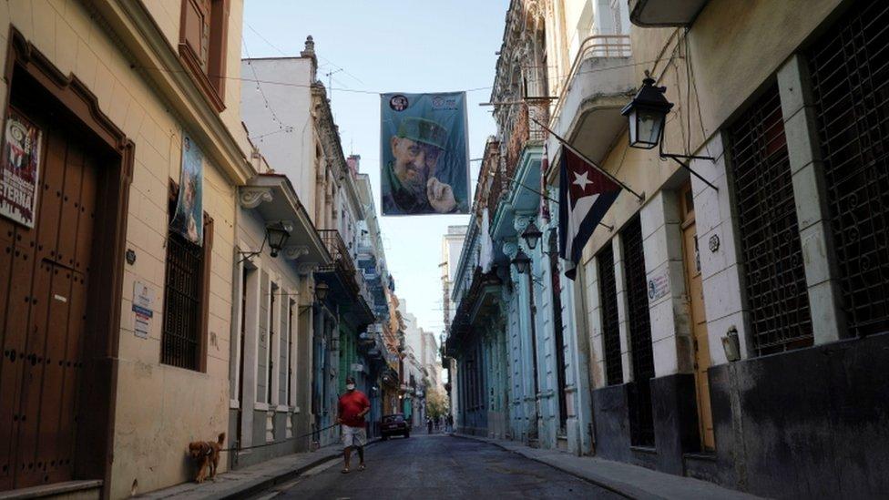 Las celebraciones del Día del Trabajo fueron inusualmente calmadas en Cuba.