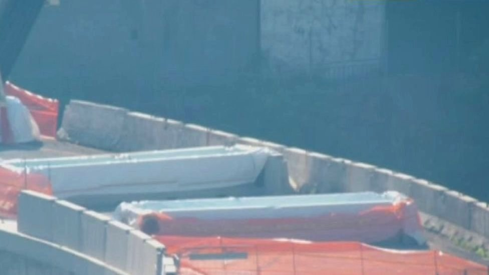 Water tanks on the Morandi bridge