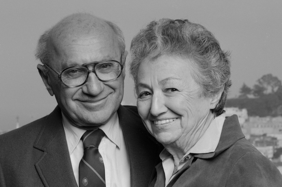 Milton Friedman and his wife Anne