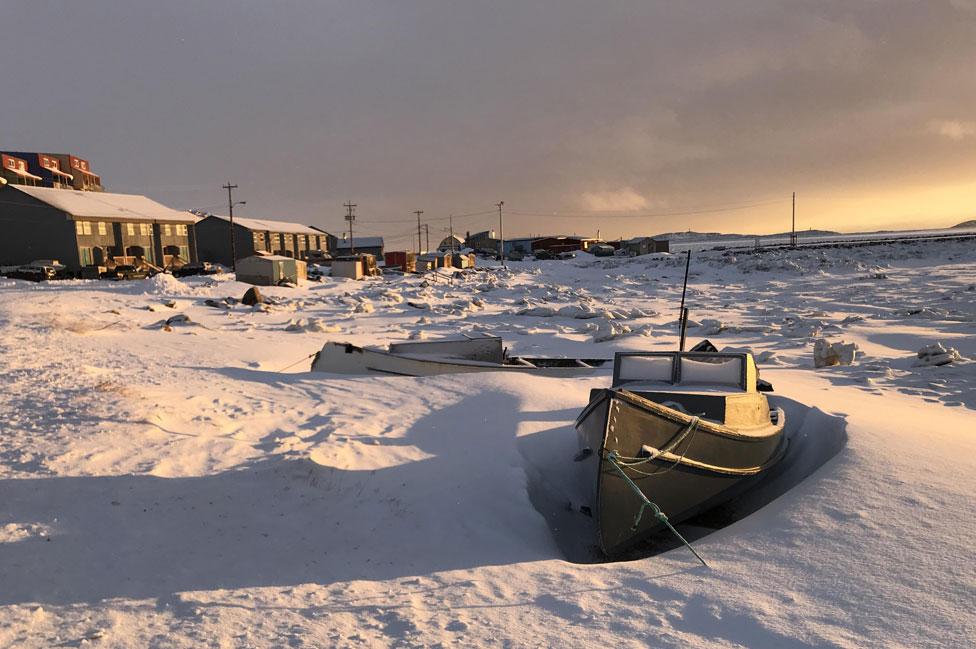 Frobisher Bay in Iqaluit, Nunavut,
