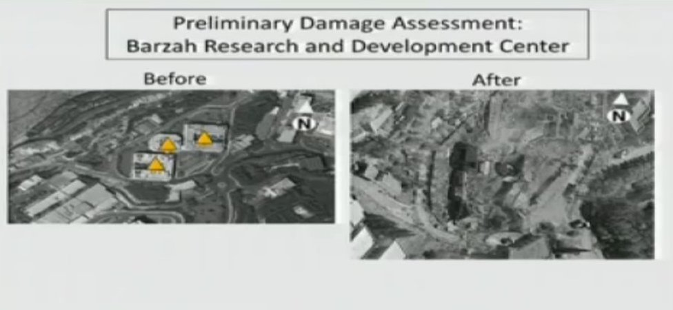 Preliminary US Department of Defense damage assessment of US-led strike on Barzeh research and development centre (14 April 2018)