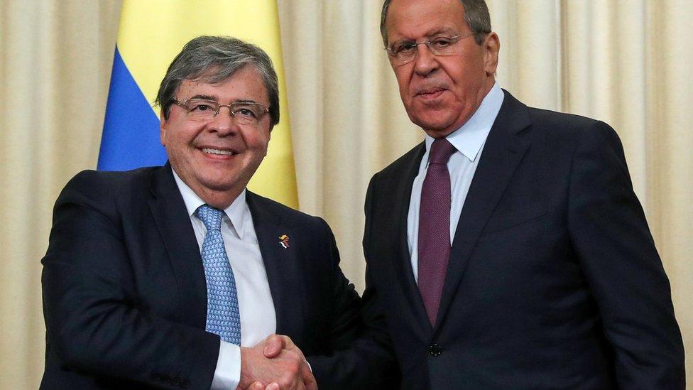 Cancilleres de Colombia y Rusia.