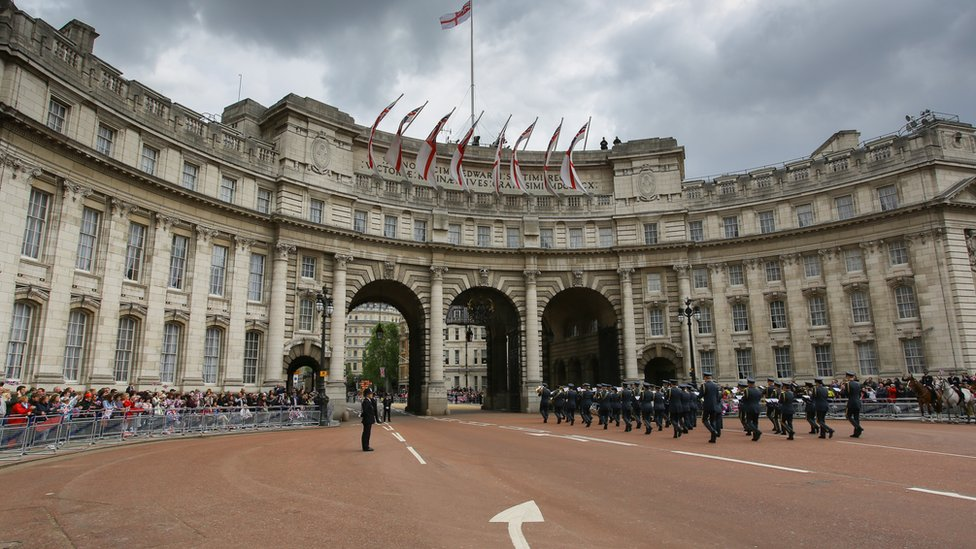 The Admiralty Arch in London