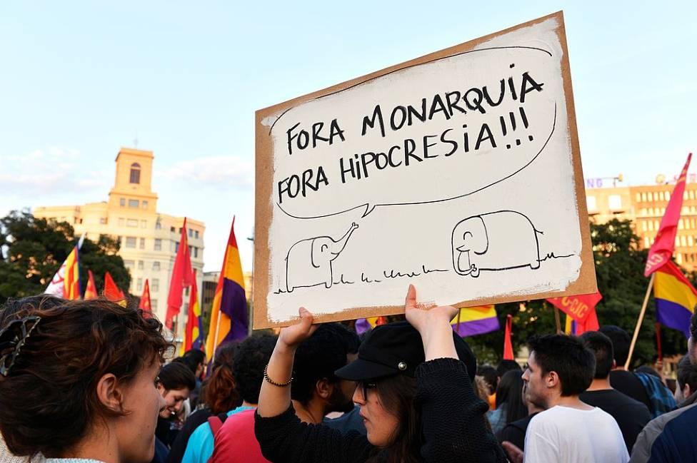 Partidarios de la República en Barcelona en 2014