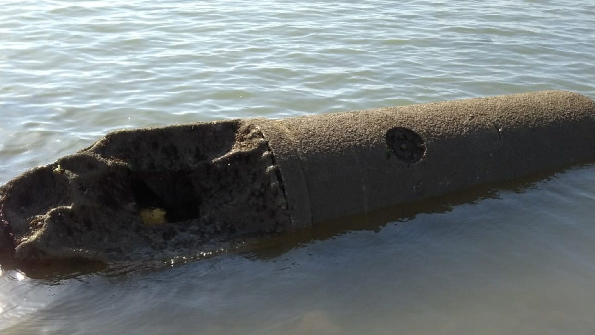 WW2 German sea mine washes up near Bognor Regis