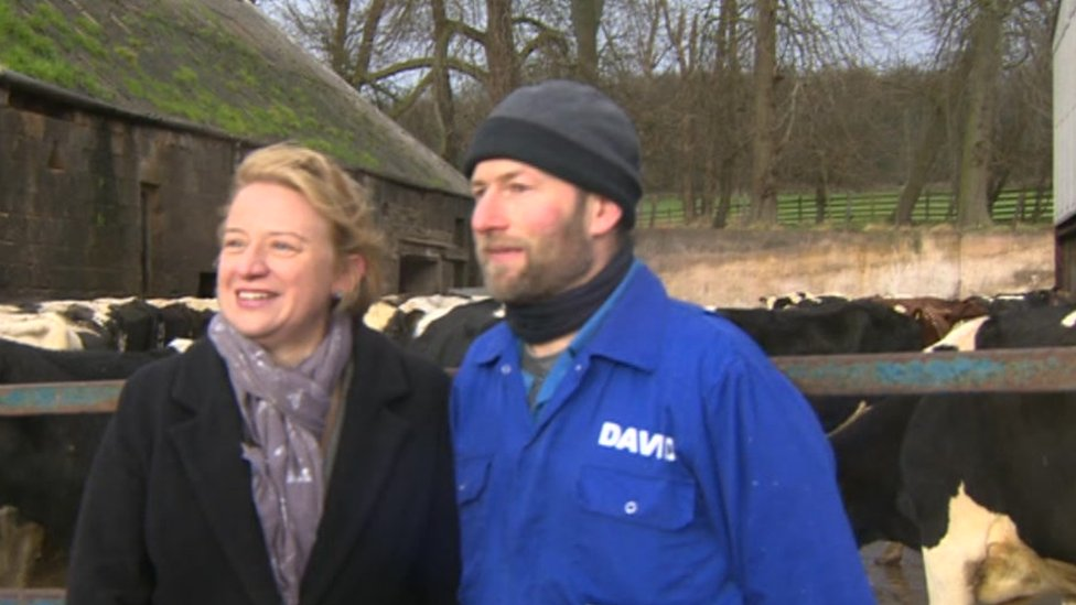 Natalie Bennett (l) and David Downs (r)