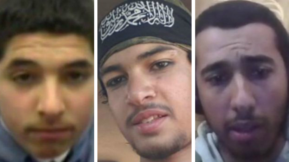 (Left to right): Abdullah Deghayes and Jaffar Deghayes, who died in Syria, with Amer Deghayes who remains in Syria
