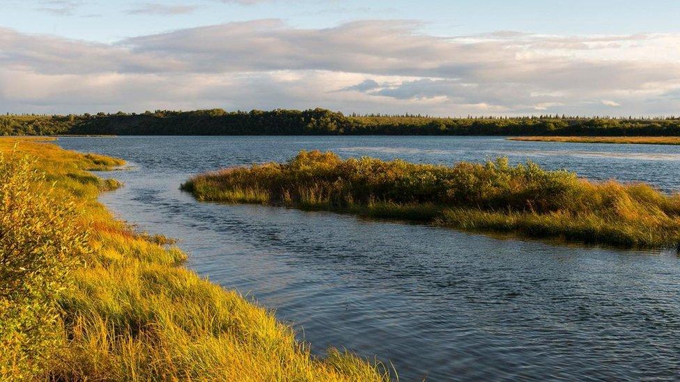 The Naknake River in Alaska.