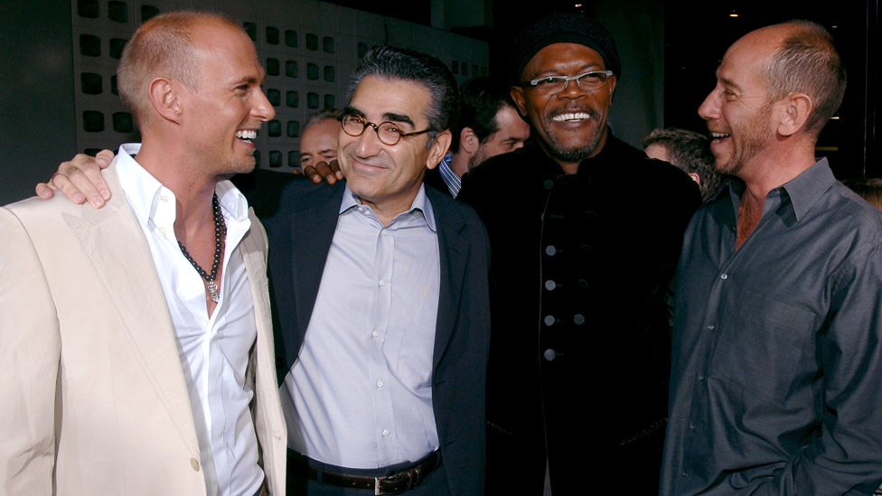 Luke Goss, Eugene Levy, Samuel L Jackson and Miguel Ferrer at the premiere of The Man in 2005