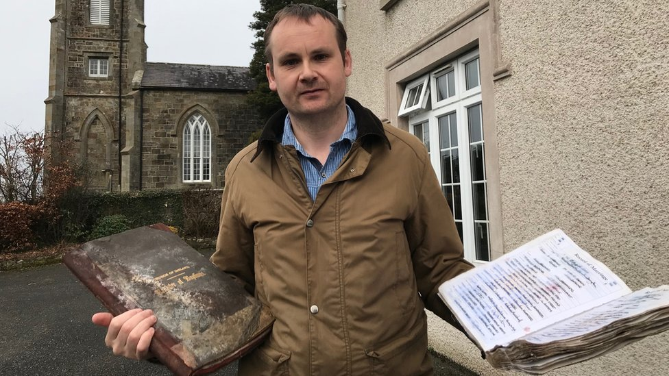 Stolen historic records returned to Fermanagh church