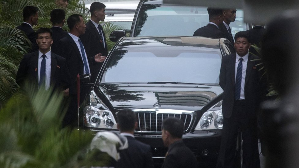 Kim Jong-un and Donald Trump arrive separately in Singapore on 10 July 2018