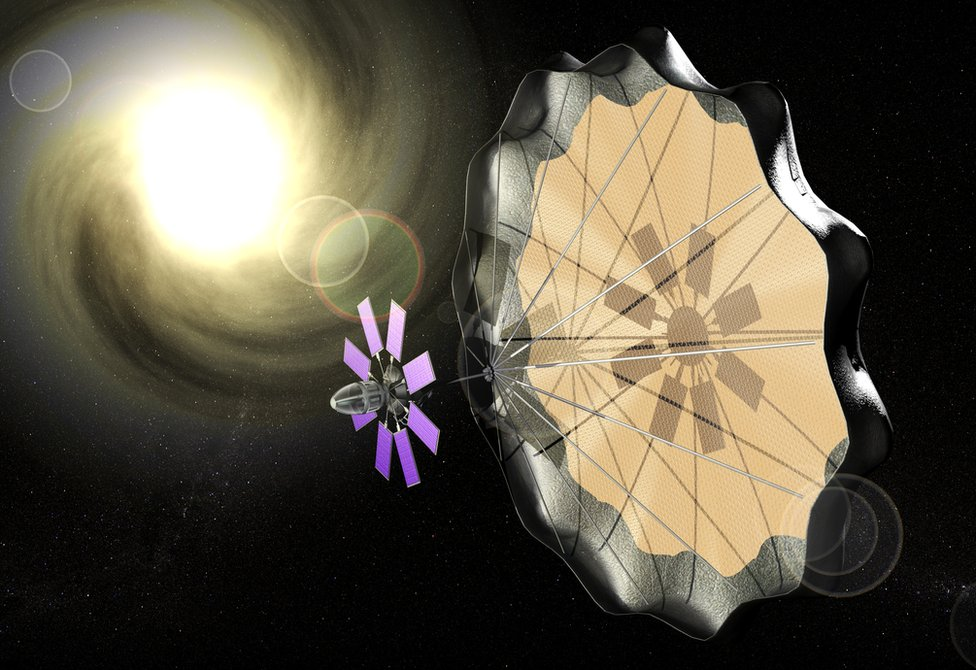 Solar sail - artist's impression