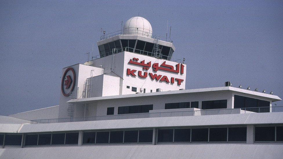 برج المراقبة في مطار الكويت