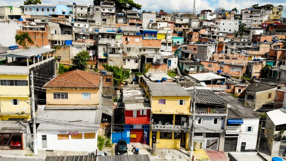 Unable to afford to live in the city's suburbs, many of Rio's poorer labourers live on the outskirts in the favelas