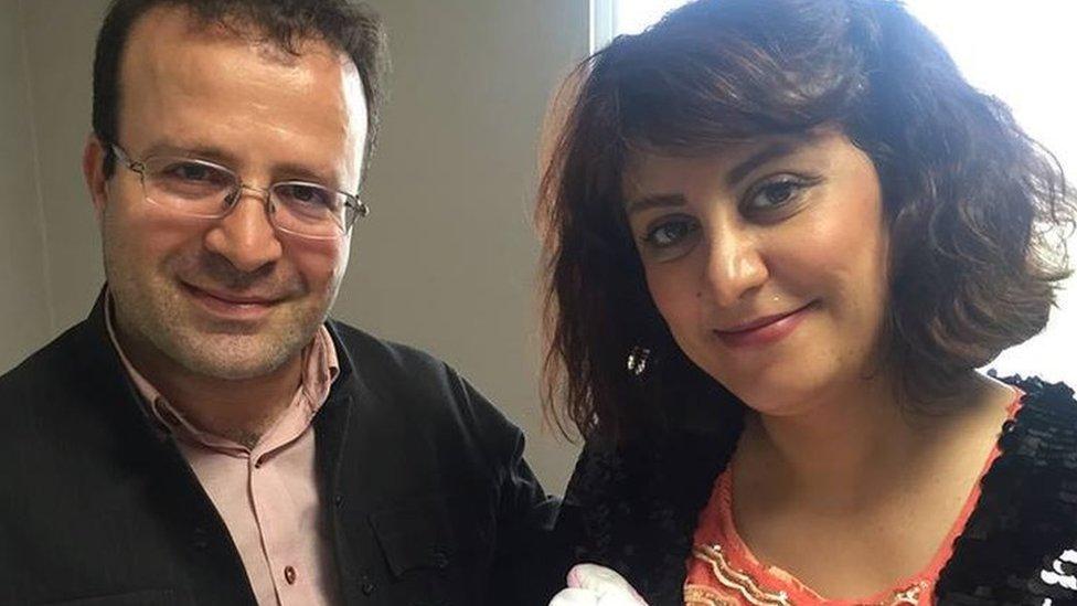 Kameel Ahmady and his wife Shafaq Rahmani