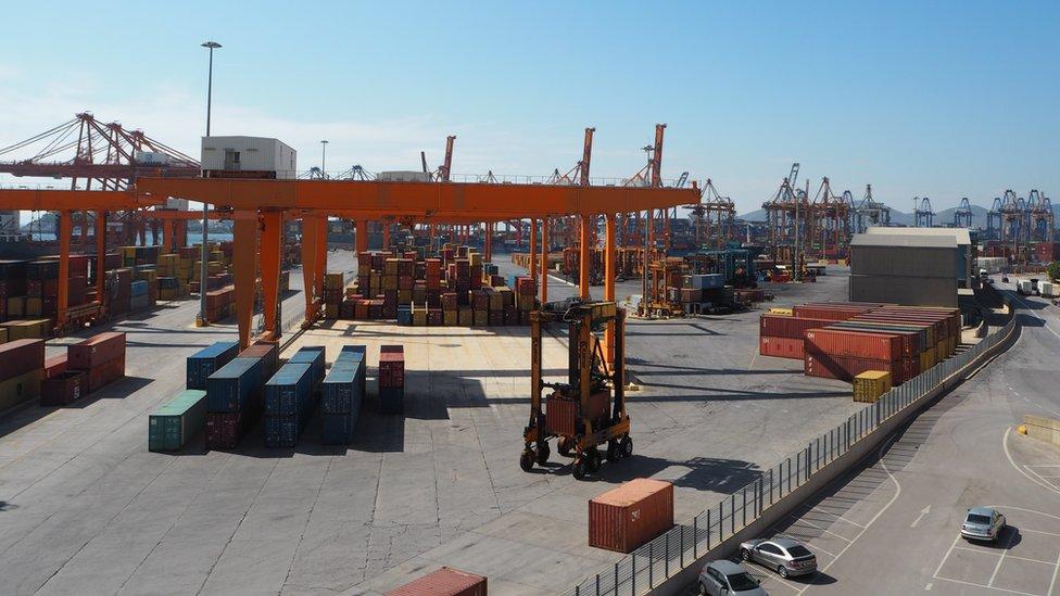 Piraeus container port