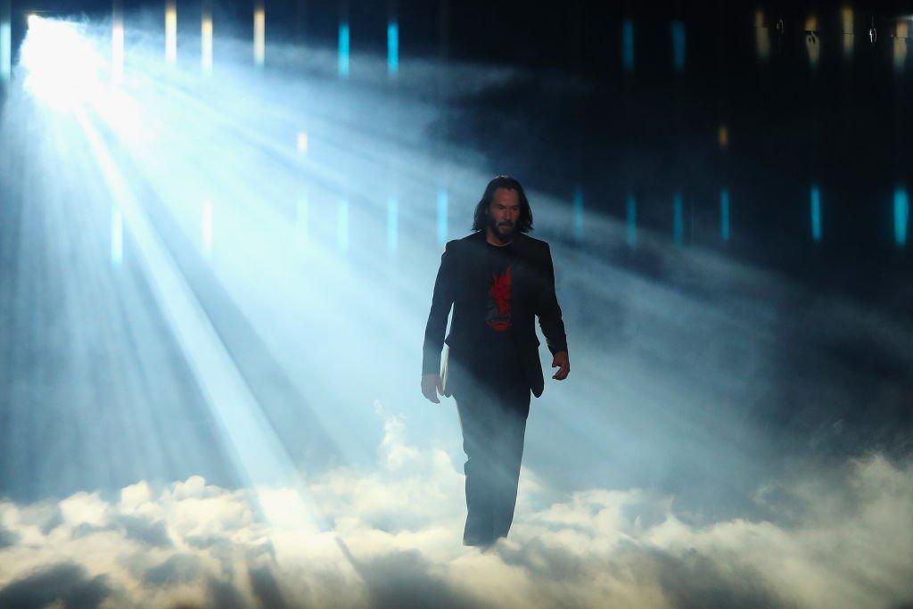 Keanu Reeves en la presentación de Cyberpunk 2077