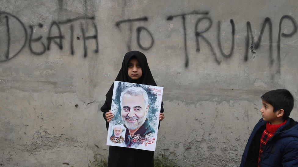 Kasım Süleymani'nin öldürülmesinden sonra İran sokaklarına