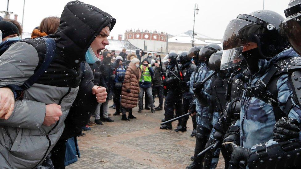 احتجاجات في موسكو