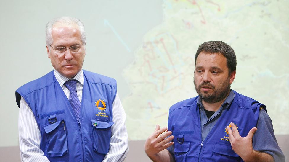 Julián Montero y Marc Castellnou, expertos en incendios de la Unión Europea